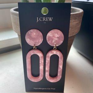 J. Crew Pink Tortoise drop earrings